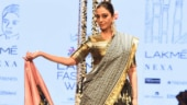 Tabu in breathtaking lehenga gives vintage vibes as she walks the ramp barefoot at LFW. See pics