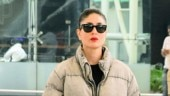 Kareena Kapoor pairs winter wear with red lipstick at airport. Proves it is the best accesssory