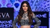 Alaya F in quirky embellished crop top and skirt makes her debut at Lakme Fashion Week. All pics