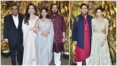 Mukesh-Nita Ambani with Anant-Radhika Merchant and Akash-Shloka attend Armaan Jain's wedding bash