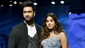Lakme Fashion Week Day 1: Janhvi Kapoor dazzles on the ramp in vibrant dress with Vicky Kaushal. See pics
