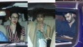 Malaika Arora and Arjun Kapoor party with Karisma and Amrita at Kareena's home. See pics