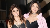 Shilpa Shetty glams up in velvet jumpsuit at her sister Shamita Shetty's birthday party. See pics