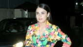 Radhika Madan brings flower power in mini blazer dress at Angrezi Medium screening
