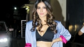 Mouni Roy in bralette and satin co-ord set keeps it sexy for Angrezi Medium screening