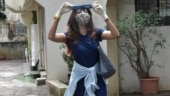 Shilpa Shetty teams mini dress with gloves, mask and face shield for outing. See pics