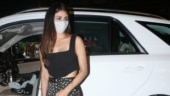 Mouni Roy in all-black crop top and mini skirt shows the perfect night time look