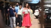 Kajal Aggarwal leaves for wedding venue for sangeet with mom. Pics from Mumbai
