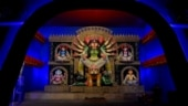 Durga Puja virtual pandal-hopping: Man and Mask is Kumartuli Park Sarbojanin's theme this year | In pictures