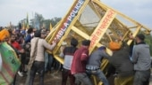 Farm law protest in pics: Chaos at Patiala-Ambala highway as police use tear gas & water cannon on farmers