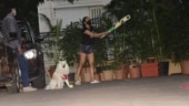 Malaika plays cricket with son Arhaan as their pet Casper cheers for them. In pics