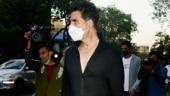 Akshay Kumar snapped shooting at Pooja Entertainment in Juhu. See pics