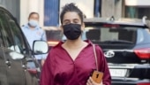 Sanya Malhotra in chic midi dress and Rs 38k sandals steps out in Mumbai