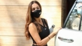 Malaika Arora in all-black sports bra and tights does athleisure right in Mumbai