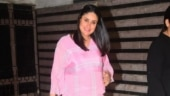 Pregnant Kareena Kapoor is pretty in pink midi dress on day out. See pics