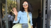 Rakul Preet pairs yellow mini dress with denim crop jacket and Rs 80k bag on day out