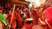Amid Covid surge, Lathmar Holi celebrations begin in Mathura