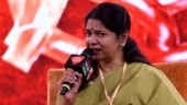 DMK's Kanimozhi Karunanidhi at India Today Conclave South ahead of polls
