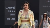Athiya Shetty in printed bustier and skirt with jacket is simply breathtaking at LFW 2021
