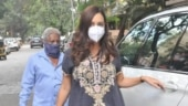 Pregnant Dia Mirza in embroidered kurta and pants goes to clinic in Mumbai. See pics