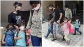 Sunny Leone steps out with kids Nisha, Asher and Noah in Mumbai. See pics