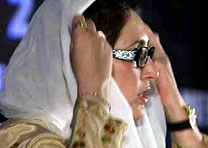 Benazir laid to rest next to her father's grave