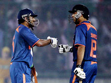 Yuvraj, Dhoni take India to handsome win