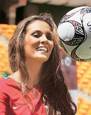 World beauties give football a sexy shot!