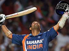 Sachin's 200 sets up huge win