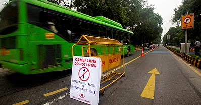 CWG lane trials choke Delhi traffic