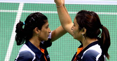 Jwala, Ashwini win doubles gold