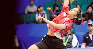 Asiad: Saina crashes out