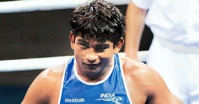 Samota ensures a medal in boxing