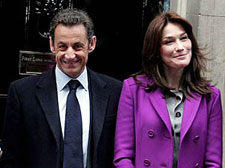 French resident Nicholas Sarkozy arrives in India on a four day visit