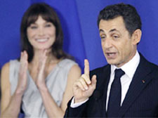 Mum: Security up for Sarkozy visit