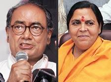 Madhya Pradesh bigwigs Digvijay Singh, Uma Bharti in face-off for UP