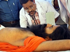 Baba Ramdev taken to Dehradun hospital as condition worsens on Day 7 of his fast