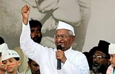 Anna Hazare at Ramlila Ground