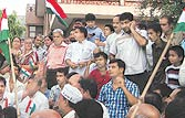 Anna Hazare supporters protest outside houses of MPs in UP