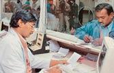Clerks behind counters in railway ticket scandal