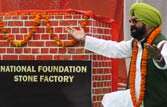 Jaspal Bhatti sets up factory for foundation stones