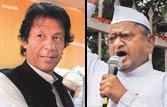Imran Khan; Anna Hazare