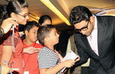 Abhishek Bachchan with a young fan