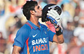 India vs WI: Manoj Tiwary hits 104 runs against WI at Chennai
