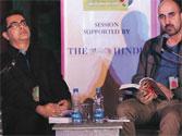 Academic Amitava Kumar (left) and Hari Kunzru