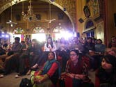 Visitors at the Jaipur Literature Festival