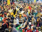 Visitors at the Jaipur Lit Fest