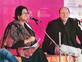 (Left to right) Sanjoy Roy, Namita Gokhale and William Dalrymple.