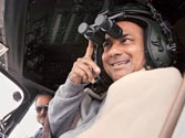 A.K. Antony dons Kerala's traditional mundu for helicopter induction