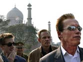 Arnie fails to get a closer view of the Taj Mahal